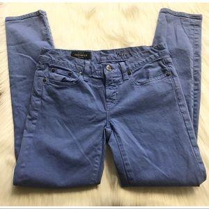 J crew toothpick blue color jeans
